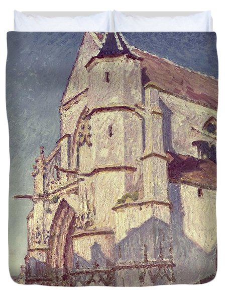The Church At Moret Duvet Cover by Alfred Sisley