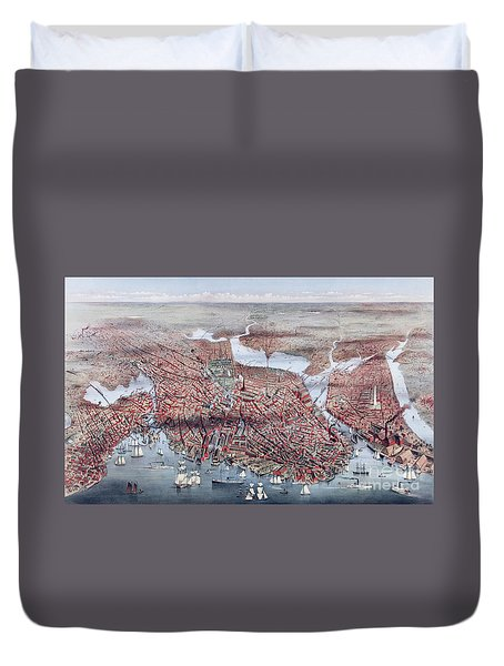 The City Of Boston Duvet Cover