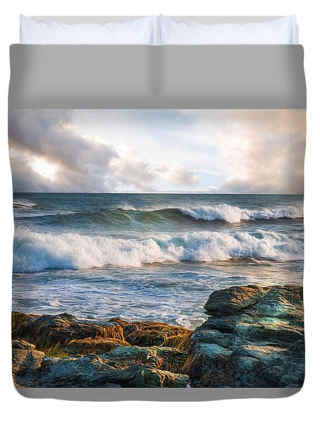 Duvet Cover featuring the photograph The Clearing by Robin-Lee Vieira