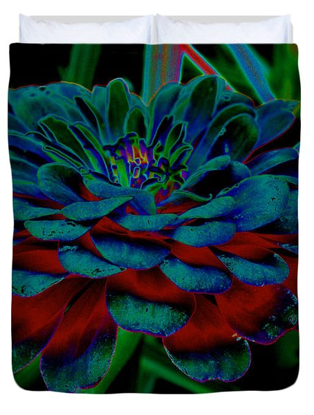 The Colors Of A Zinnia Duvet Cover