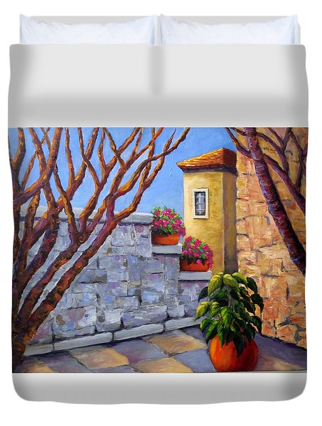 The Courtyard Duvet Cover