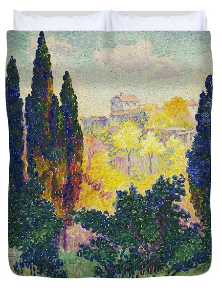 The Cypresses At Cagnes Duvet Cover