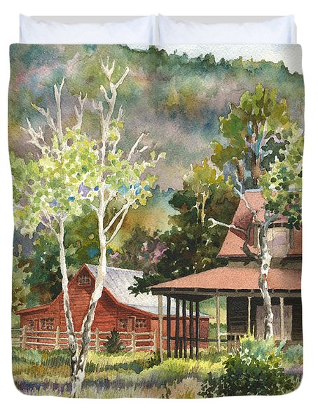 The Delonde Homestead At Caribou Ranch Duvet Cover