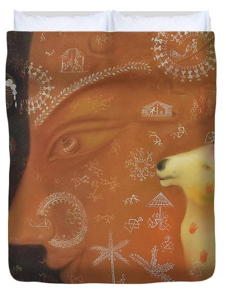 The Divine Being Duvet Cover