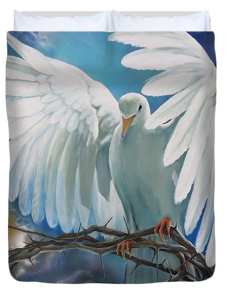 The Dove Duvet Cover by Larry Cole