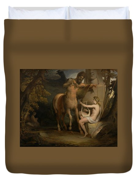 The Education Of Achilles Duvet Cover by James Barry