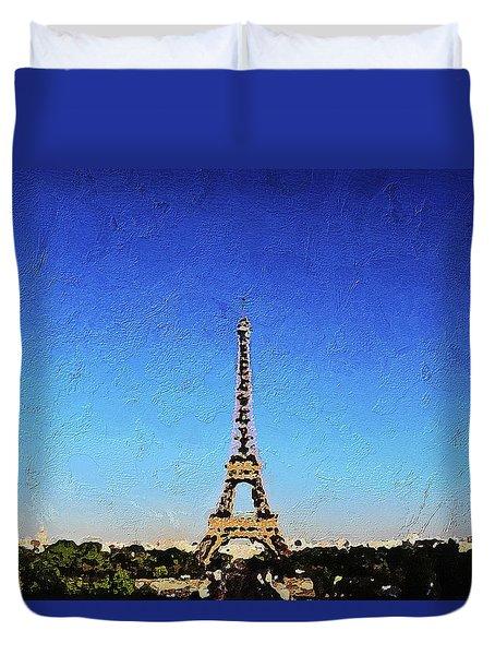 The Eiffel Tower Duvet Cover by PixBreak Art