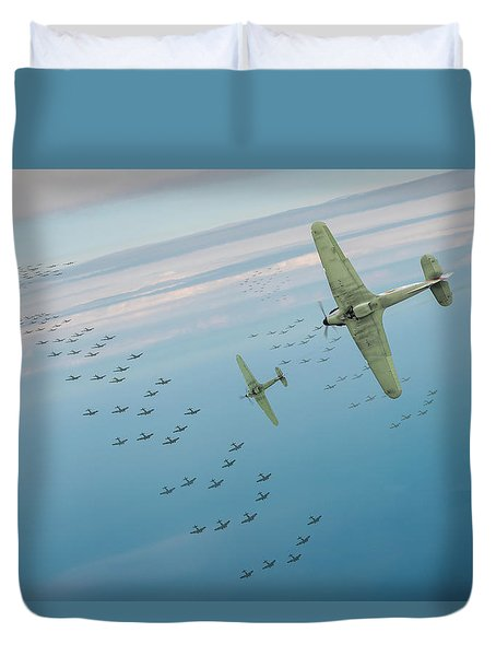 Duvet Cover featuring the photograph The Few by Gary Eason