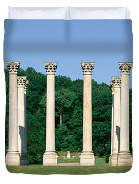 The First Capitol Columns Of The United Duvet Cover by Panoramic Images