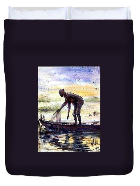 The Fisherman Duvet Cover