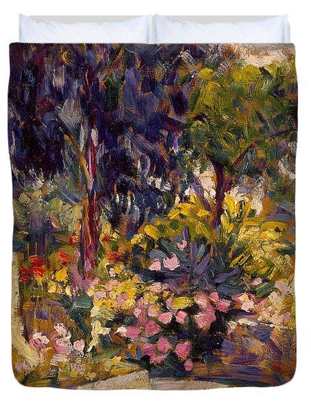 The Flowered Terrace Duvet Cover
