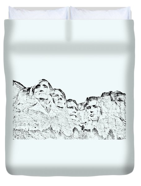 The Four Presidents Duvet Cover