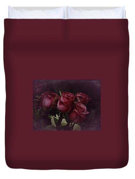 Duvet Cover featuring the photograph The Four Roses by Richard Cummings