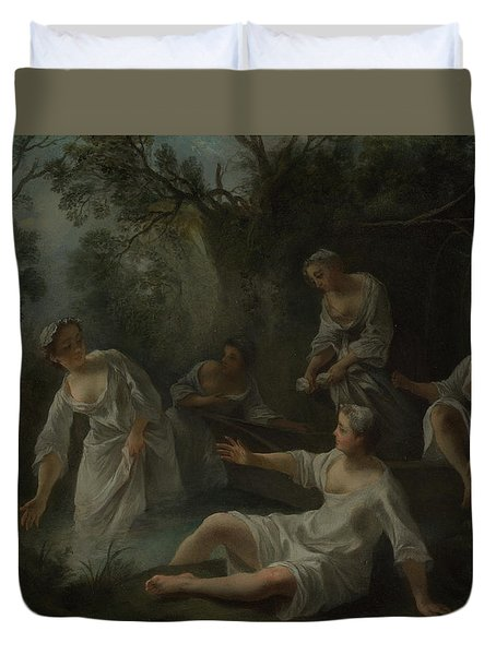 The Four Times Of Day   Evening Duvet Cover
