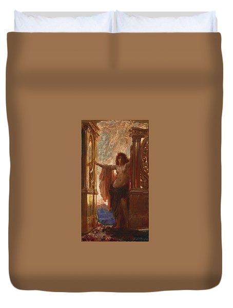 The Gates Of Dawn Duvet Cover by Herbert James Draper