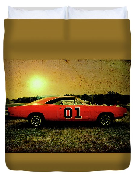 Duvet Cover featuring the photograph The General Lee by Joel Witmeyer