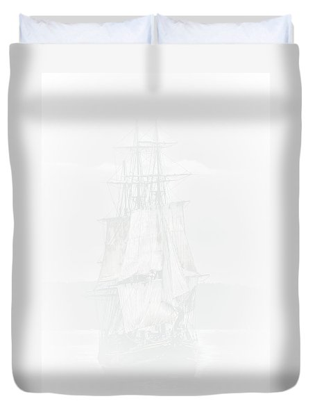 The Ghost Ship Duvet Cover by David Patterson