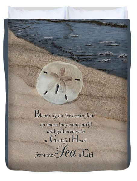 Duvet Cover featuring the photograph The Gift by Robin-Lee Vieira