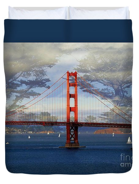 The Golden Gate Bridge  Duvet Cover by Scott Cameron