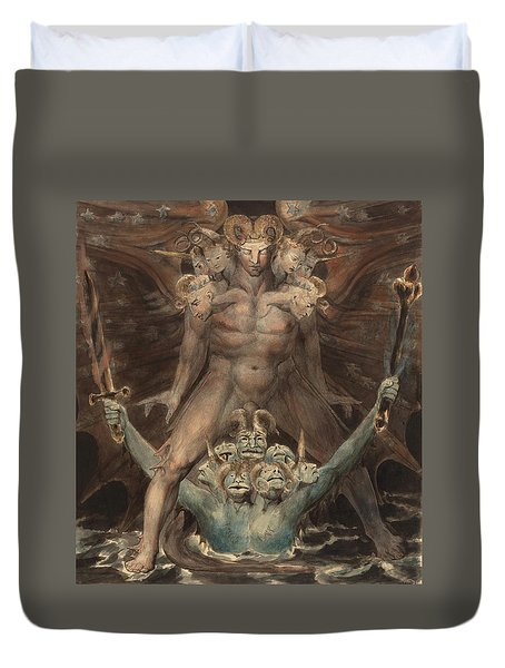The Great Red Dragon And The Beast From The Sea Duvet Cover