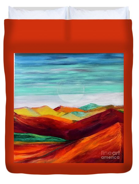 The Hills Are Alive Duvet Cover by Kim Nelson