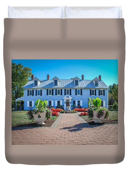 Duvet Cover featuring the photograph The Homestead Birthplace Of Milton Hershey by Mark Dodd