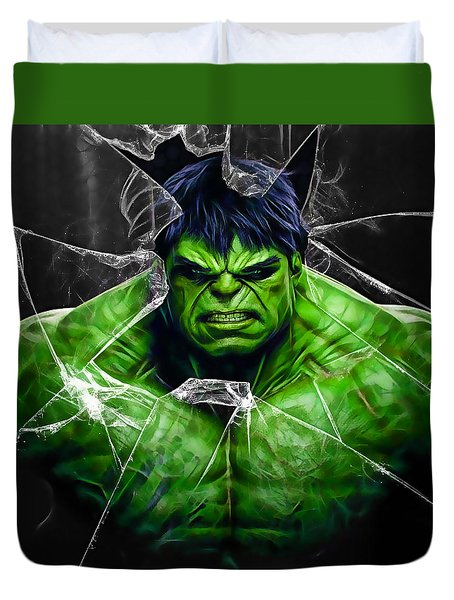 The Incredible Hulk Collection Duvet Cover by Marvin Blaine