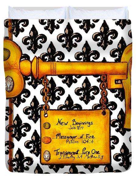 The Key Duvet Cover