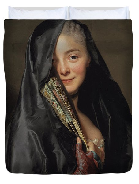 The Lady With The Veil  Duvet Cover