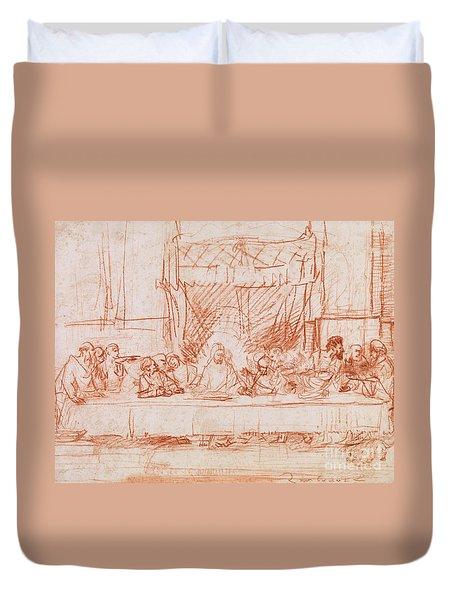 The Last Supper, After Leonardo Da Vinci Duvet Cover