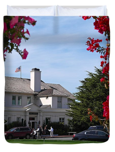Duvet Cover featuring the photograph The Lodge At Pebble Beach by Michele Myers