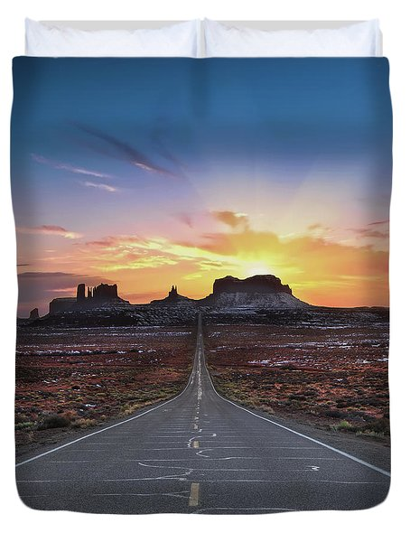 The Long Road To Monument Valley Duvet Cover