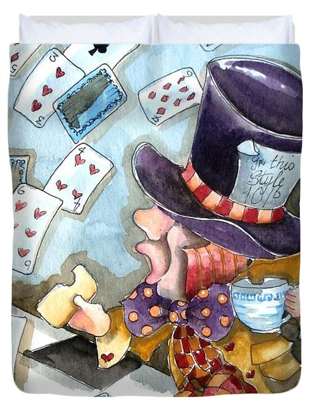 The Mad Hatter Duvet Cover by Lucia Stewart