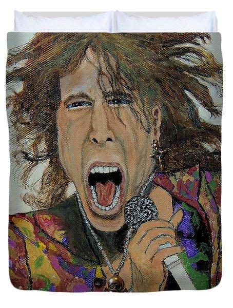 The Madman Of Rock.steven Tyler. Duvet Cover