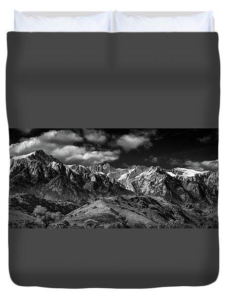 The Majestic Sierras Duvet Cover