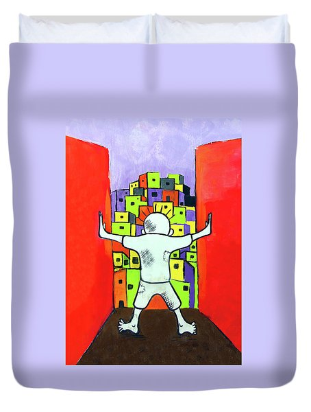 Duvet Cover featuring the photograph The Man by Munir Alawi