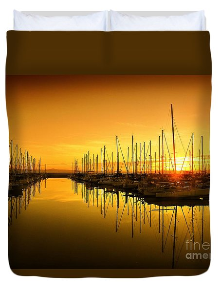 The Marina Duvet Cover by Scott Cameron
