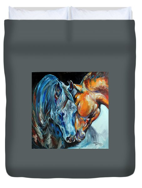 The Meeting  Duvet Cover by Marcia Baldwin