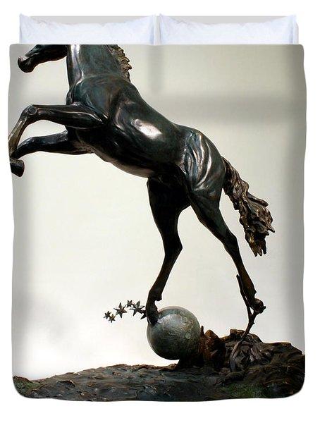 The Moonhorse Bronze  Duvet Cover by Dawn Senior-Trask