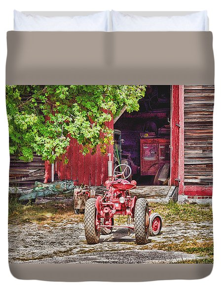 The Old Ride Duvet Cover by Tricia Marchlik