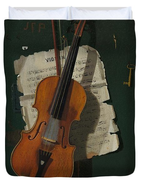 The Old Violin Duvet Cover