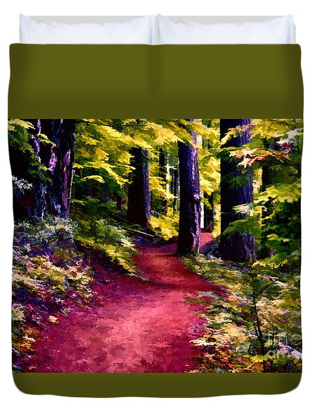 The Path Duvet Cover by Erica Hanel