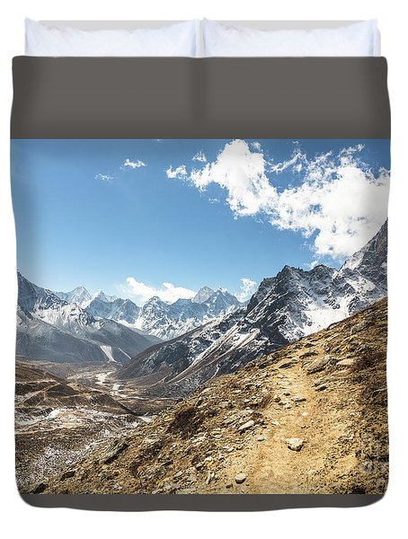 The Path To Cho La Pass In Nepal Duvet Cover