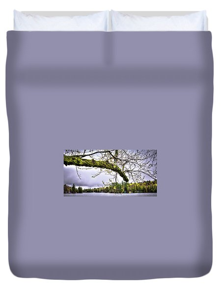 The Pond In Old Forge Duvet Cover by David Patterson