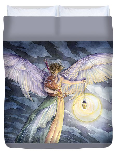 The Protector Duvet Cover by Sara Burrier