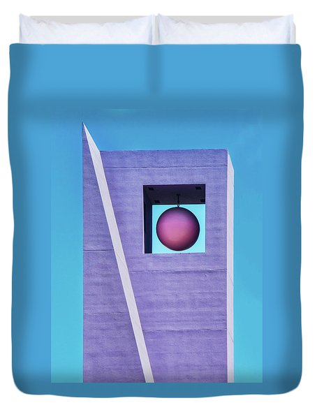The Purple Tower At Pershing Square Duvet Cover