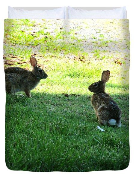 The Rabbit Dance Duvet Cover