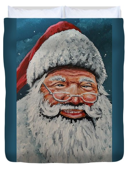 Duvet Cover featuring the painting The Real Santa by James Guentner