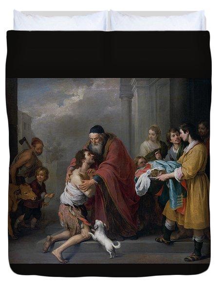 The Return Of The Prodigal Son Duvet Cover