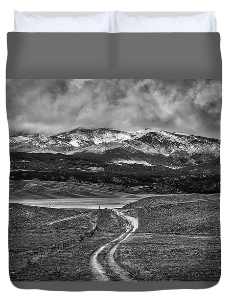 The Road That Leads You Home Duvet Cover by Peter Tellone